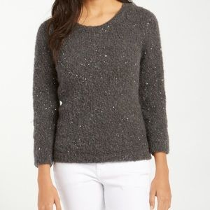 Tommy Bahama grey sunstone sequined pullover XL